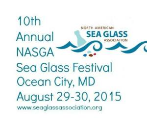 2015 NASGA Sea Glass Festival logo
