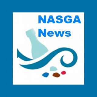 NASGA News blue border square