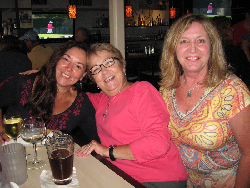 Lisl, Linda and Cindy during  NASGA's Cape May festival in 2014 Photo courtesy  Cindy Mullin