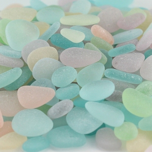 Jane's collection of pastel sea glass