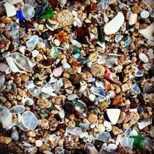 Puerto Rico sea glass hunting