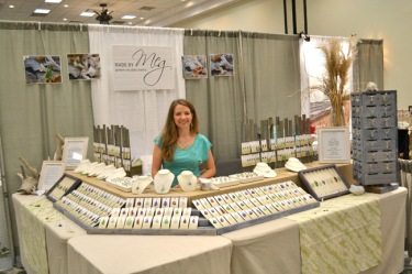 Meg at a North American Sea Glass Festival