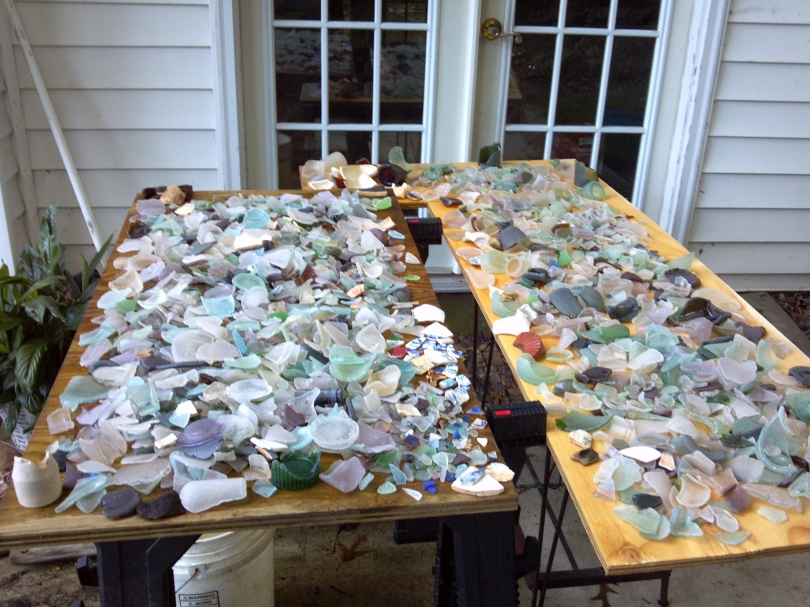Some of ST Beach Finds sea glass collection