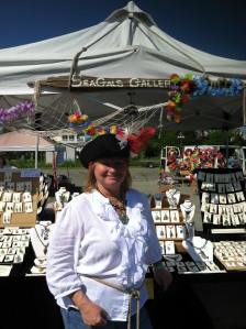 Cheryl at annual pirate festival