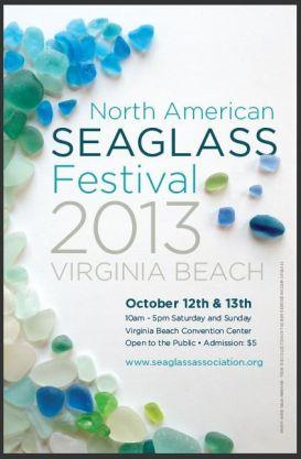 2013 SEA GLASS FESTIVAL POSTER