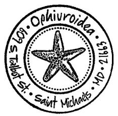 The O Stamp- Starfish 1